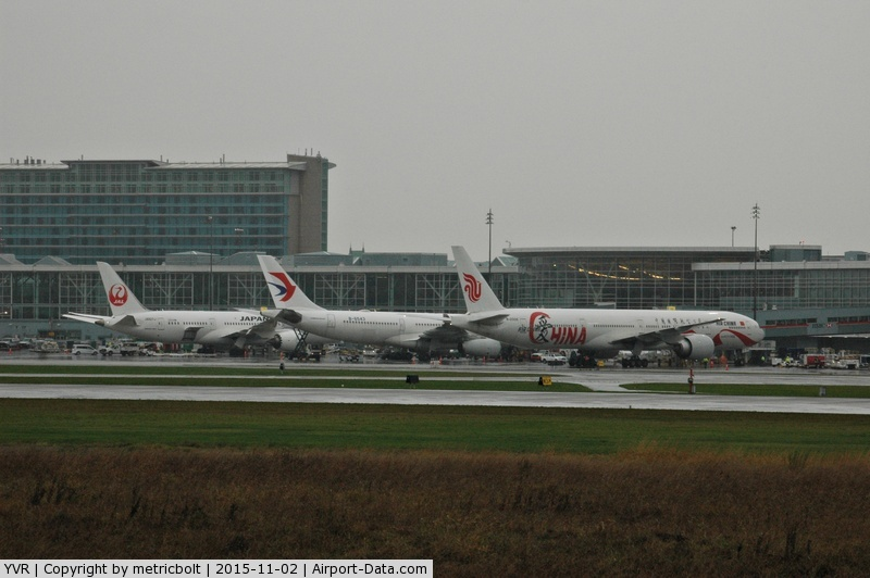 Vancouver International Airport, Vancouver, British Columbia Canada (YVR) - Rainy day arrivals in Vancouver