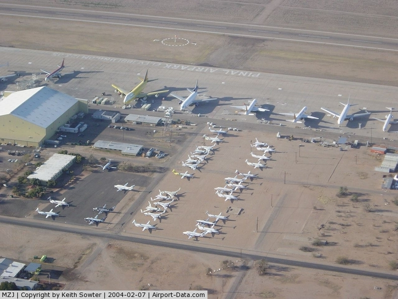 Pinal Airpark Airport (MZJ) - Image taken through perspex window of aircraft whilst overflying / taxying around