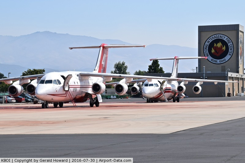 Boise Air Terminal/gowen Fld Airport (BOI) - Fire tankers parked on NIFC ramp.