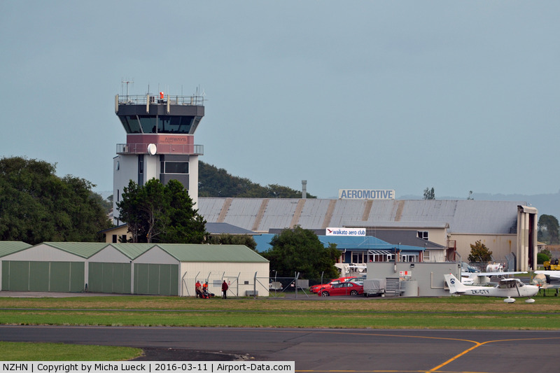 Hamilton International Airport, Hamilton New Zealand (NZHN) - Tower and GA