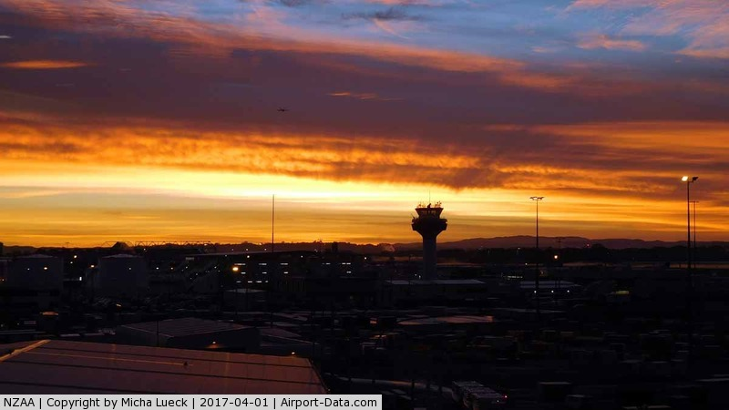 Auckland International Airport, Auckland New Zealand (NZAA) - This amazing sunrise is no April's fool day joke...