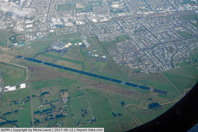 Palmerston North International Airport, Palmerston North New Zealand (NZPM) - Taken from ZK-MVL, AKL-PMR