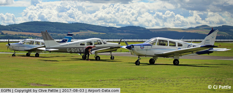 Dundee Airport, Dundee, Scotland United Kingdom (EGPN) - GA line-up at Dundee