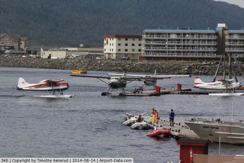 Ketchikan Harbor Seaplane Base (5KE) - Cruise ships keep this Seaplane Base busy