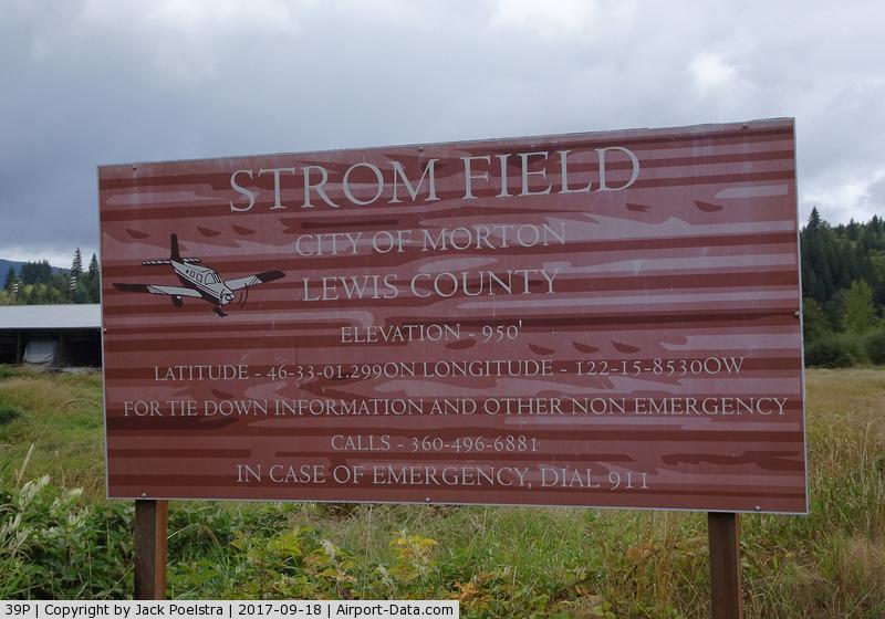 Strom Field Airport (39P) - Strom field airport WA