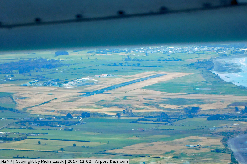 New Plymouth Airport, New Plymouth New Zealand (NZNP) - Taken from ZK-NEF (AKL-NPL)