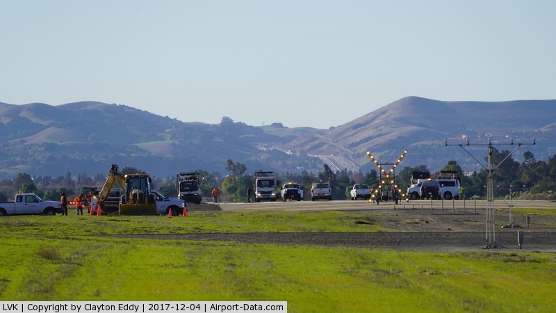 Livermore Municipal Airport (LVK) - Livermore Airport runway 25R getting some maintenance. 2017.