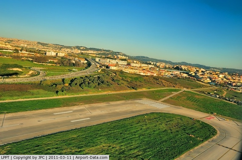 Portela Airport (Lisbon Airport), Portela, Loures (serves Lisbon) Portugal (LPPT) - The End of the Runway 35/17