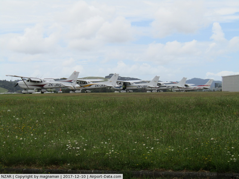 Ardmore Airport, Auckland New Zealand (NZAR) - club grass apron