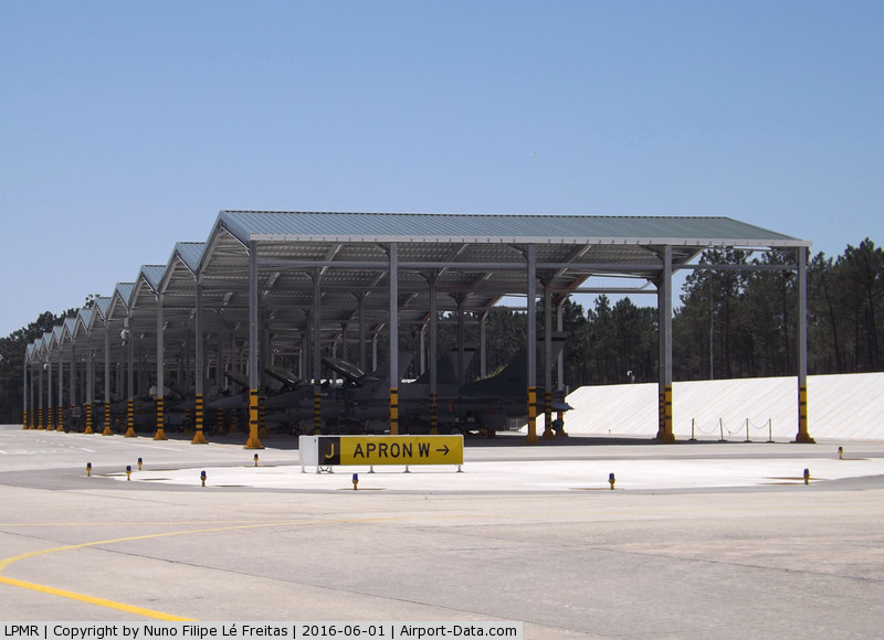 Monte Real Air Base Airport, Monte Real, Leiria Portugal (LPMR) - New shelters.