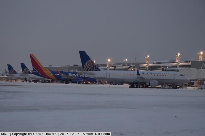 Boise Air Terminal/gowen Fld Airport (BOI) - South side of B Concourse after sun rise.