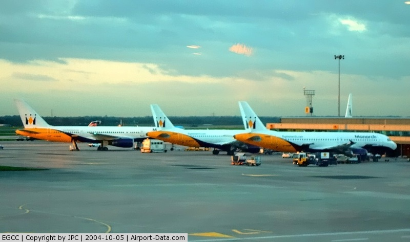 Manchester Airport, Manchester, England United Kingdom (EGCC) - Old Monarch Fleet, Gone. At Sunset...