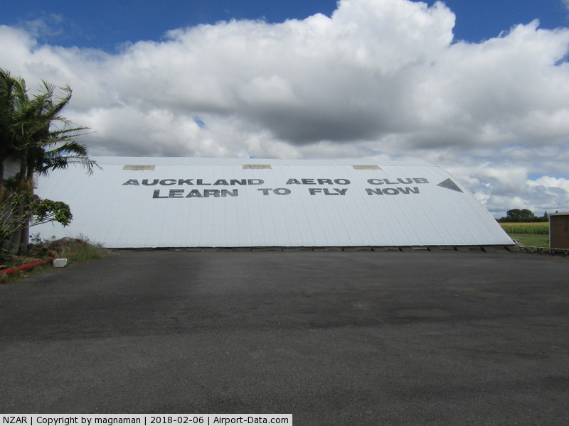 Ardmore Airport, Auckland New Zealand (NZAR) - old blister hangar - no flying club inside that anymore.