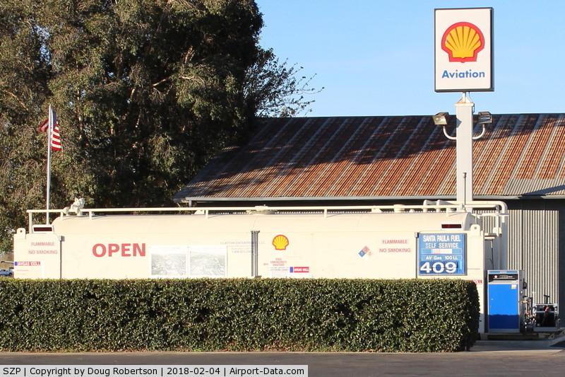 Santa Paula Airport (SZP) - Santa Paula SHELL 100LL self-service Fuel Dock, no price change