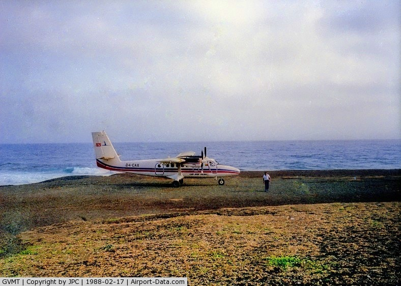 Mosteiros Airport, Fogo Island Cape Verde (GVMT) - The Island's main Airport, Sao Filipe was on repairs (for over 10 years), so this was the only option. A short dirt runway, they had to scare away the goats before landing.
