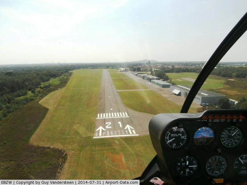 Zwartberg Airport, Genk Belgium (EBZW) - Landing with R44 00-AAR @ EBZW