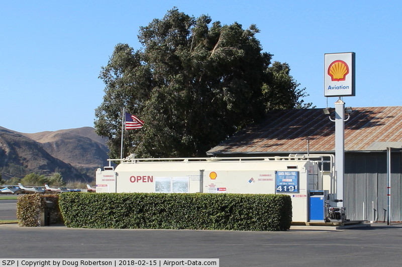 Santa Paula Airport (SZP) - Santa Paula Self-Serve SHELL 100LL Fuel Dock, note price increase
