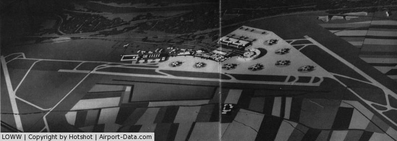 Vienna International Airport, Vienna Austria (LOWW) - Plan from early 1970s for the situation beyond the 1990s.