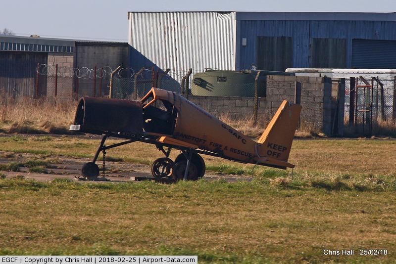 Sandtoft Airfield Airport, Scunthorpe, England United Kingdom (EGCF) - Sandtoft fire training rig