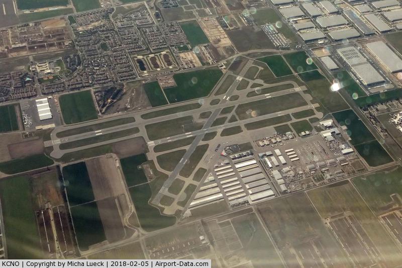 Chino Airport (CNO) - Taken from B 737-800 (N376DA), CUN-LAX