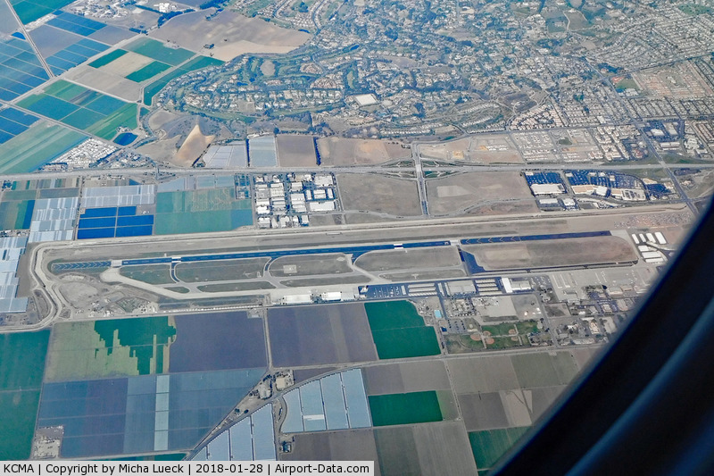 Camarillo Airport (CMA) - Taken from B 777-300ER (ZK-OKN), AKL-LAX