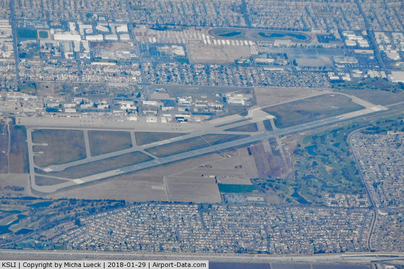 Los Alamitos Aaf Airport (SLI) - Taken from B737-800 (N3749D) LAX-CUN