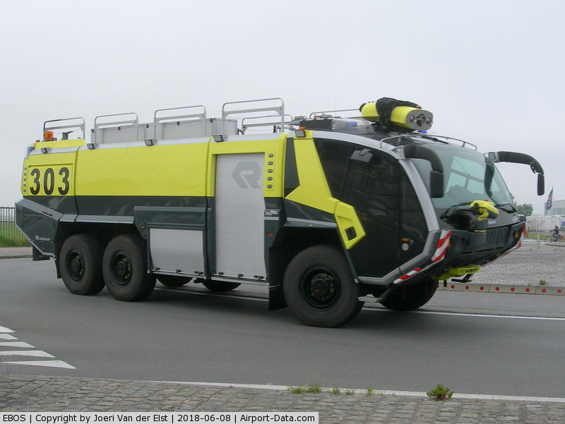 Ostend-Bruges International Airport, Ostend Belgium (EBOS) - Rosenbauer airport firefighter