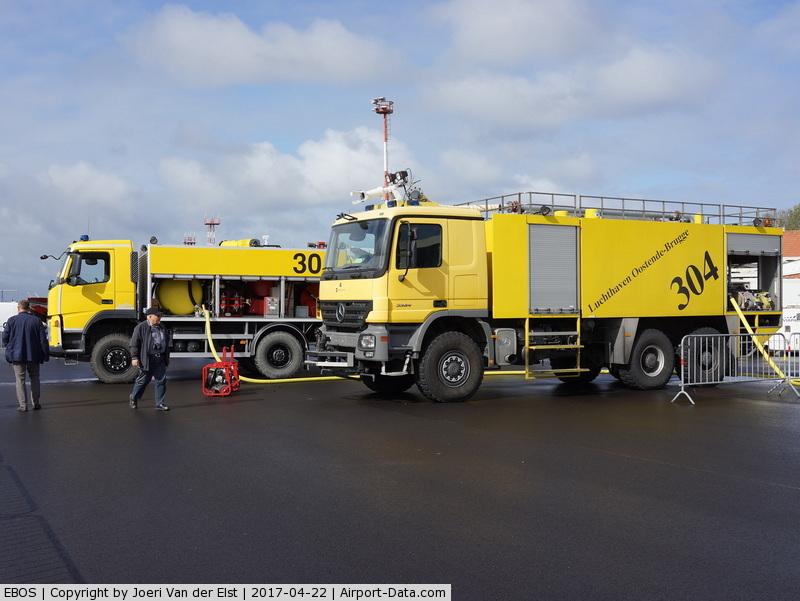 Ostend-Bruges International Airport, Ostend Belgium (EBOS) - Airport firefighting equipment