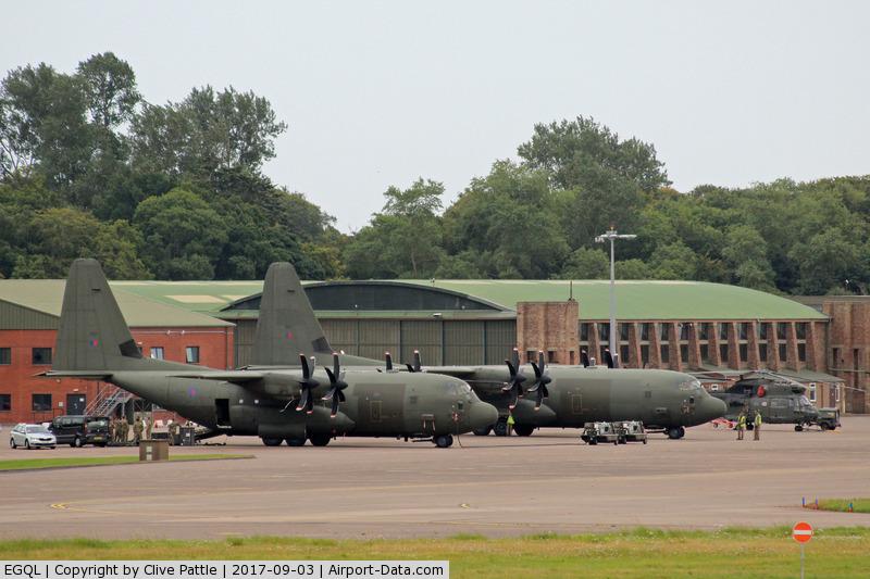 RAF Leuchars Airport, Leuchars, Scotland United Kingdom (EGQL) - Ramp shot at Leuchars
