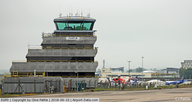Aberdeen Airport, Aberdeen, Scotland United Kingdom (EGPD) - The 'Wedding Cake' ATC Tower at Aberdeen