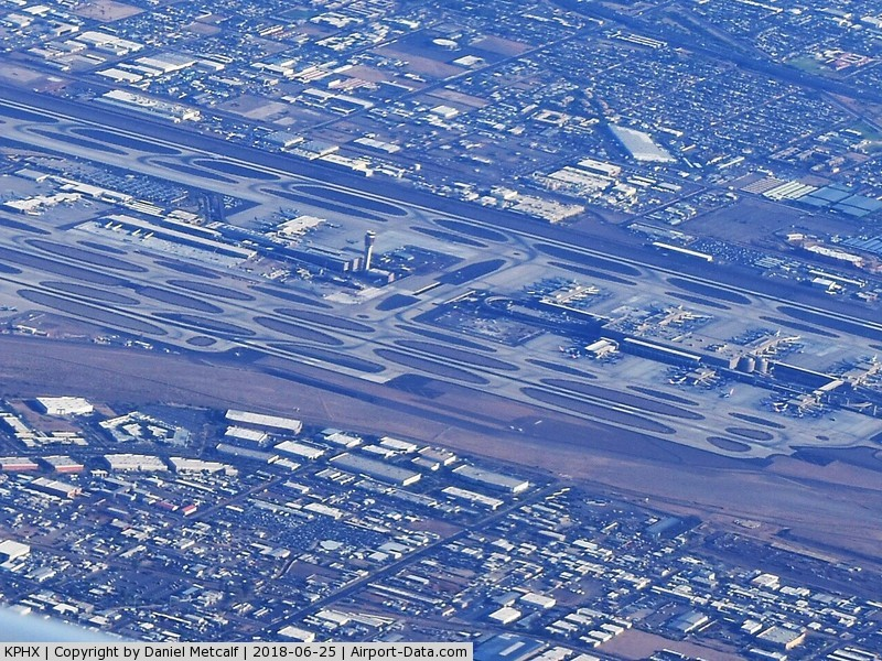 Phoenix Sky Harbor International Airport (PHX) - Seen from the air