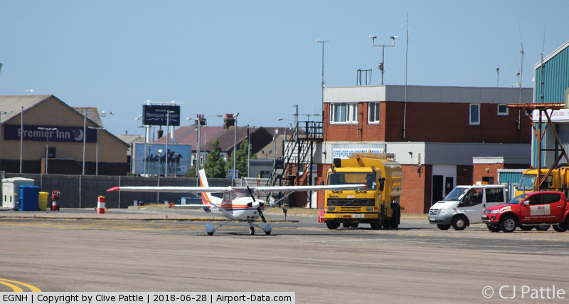 Blackpool International Airport, Blackpool, England United Kingdom (EGNH) - Apron view at Blackpool