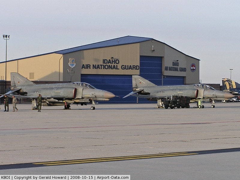 Boise Air Terminal/gowen Fld Airport (BOI) - German F-4s parked on the Idaho ANG ramp.