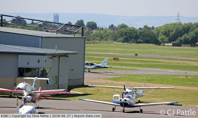 Gloucestershire Airport, Staverton, England United Kingdom (EGBJ) - General view looking west at EGBJ