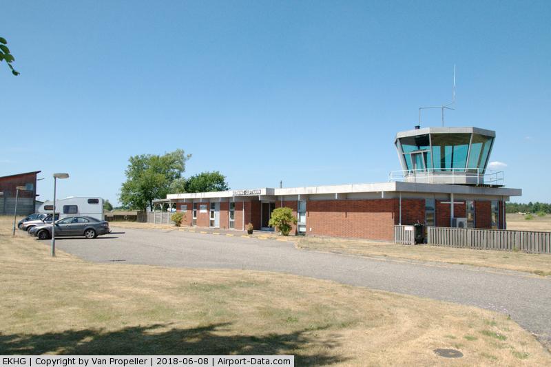 Herning Airport, Herning Denmark (EKHG) - Herning airfield terminal and tower