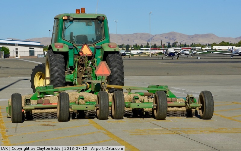 Livermore Municipal Airport (LVK) - Tractor Livermore Airport California 2018.