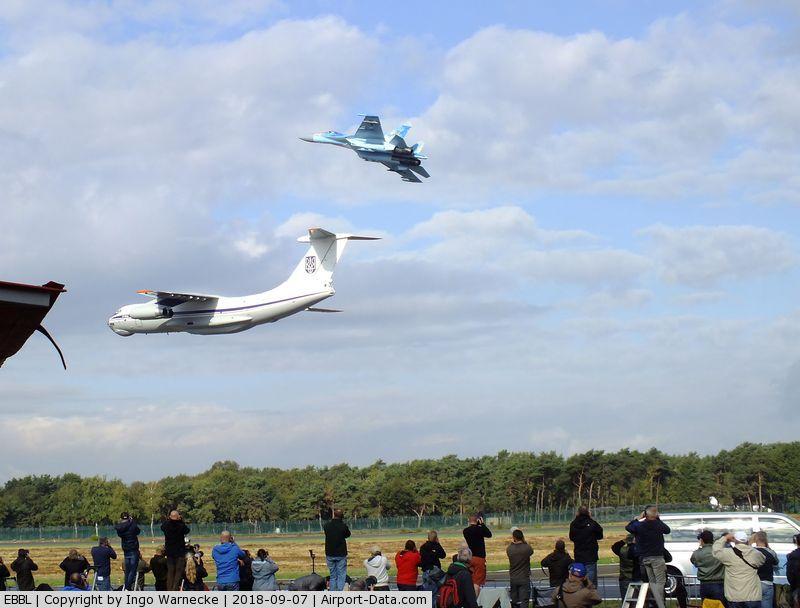 Kleine Brogel Air Base Airport, Kleine Brogel Belgium (EBBL) - Ilyushin Il-76 and Sukhoi Su-27 flypast at the 2018 BAFD Spottersday at Kleine Brogel airbase