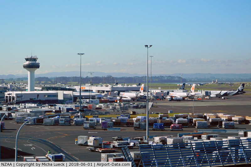 Auckland International Airport, Auckland New Zealand (NZAA) - View towards the domestic terminal