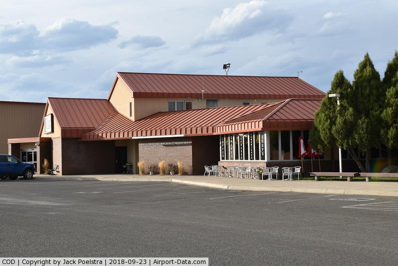 Yellowstone Regional Airport (COD) - General aviation terminal of Yellowstone reg. airport, Cody WY