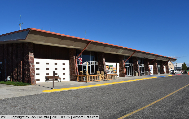 Yellowstone Airport (WYS) - Passenger terminal of Yellowstone airport, West Yellowstone MT
