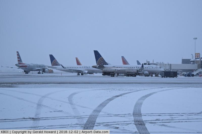 Boise Air Terminal/gowen Fld Airport (BOI) - First snow of the season.