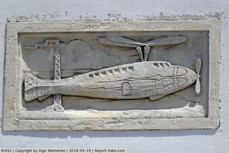William P Hobby Airport (HOU) - details of the relief ornaments on the Houston Municipal Airport terminal building - restored and maintained by volunteers and staff of the 1940 Air Terminal Museum