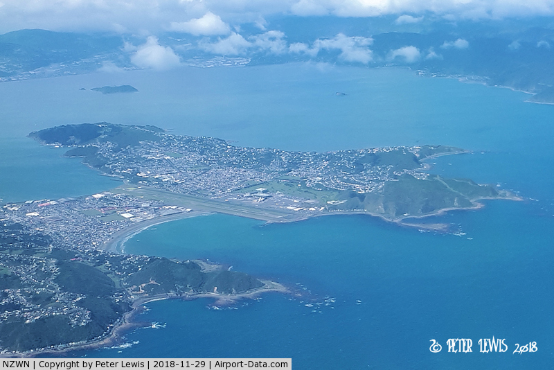 Wellington International Airport, Wellington New Zealand (NZWN) - From the climb out, tracking north.
