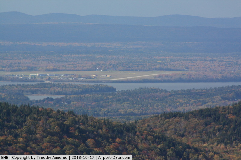 Hancock County-bar Harbor Airport (BHB) - Taken from the top of Cadillac Mountain in Acadia National Park