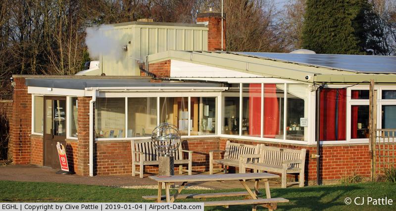Lasham Airfield Airport, Basingstoke, England United Kingdom (EGHL) - Lasham Gliding Club Restaurant - A great viewing area