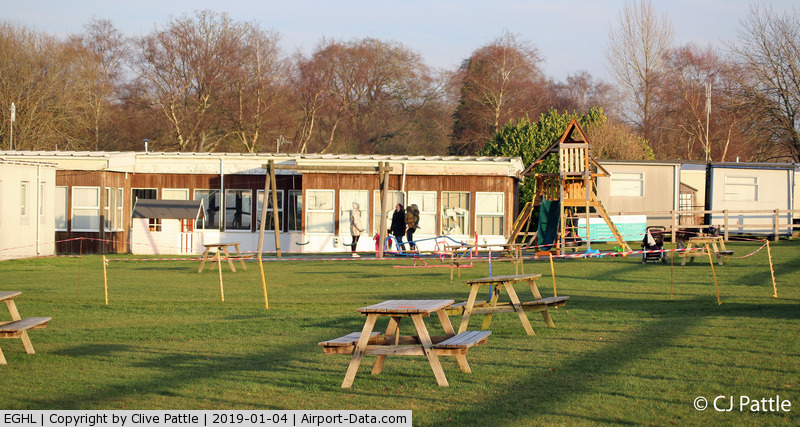 Lasham Airfield Airport, Basingstoke, England United Kingdom (EGHL) - Childrens play area and picnic viewing area at Lasham