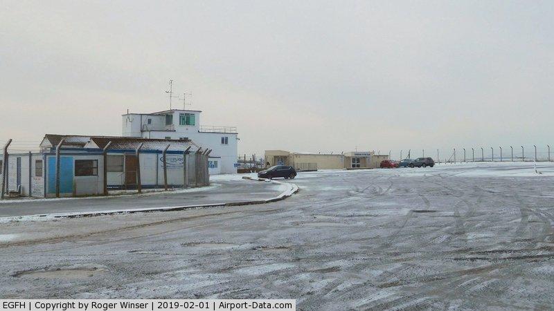 Swansea Airport, Swansea, Wales United Kingdom (EGFH) - Swansea Airport in the snow.
