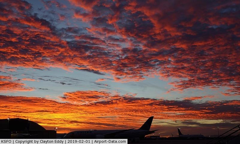 San Francisco International Airport (SFO) - Sunrise SFO 2019.