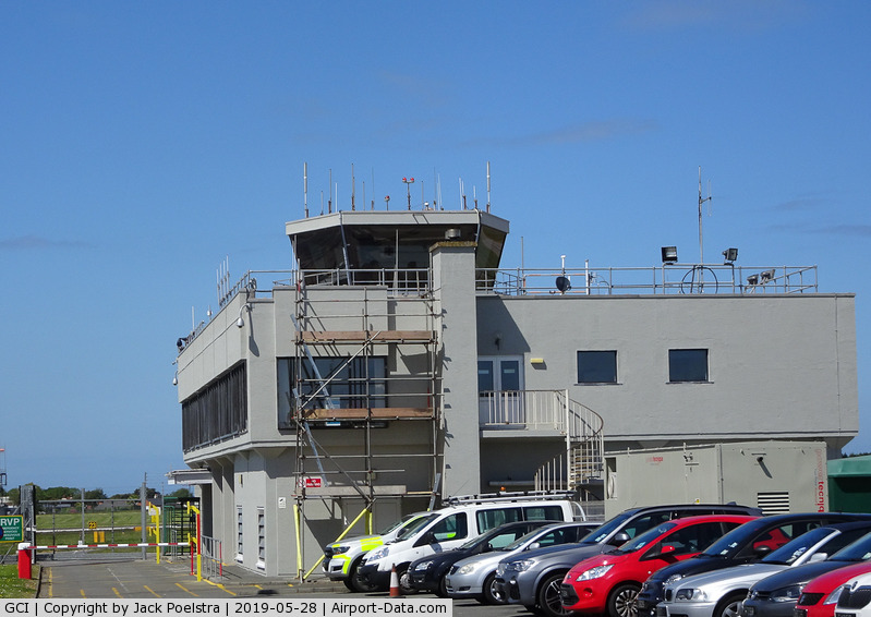 Guernsey Airport, Guernsey, Channel Islands United Kingdom (GCI) - Control tower of Guernsey airport