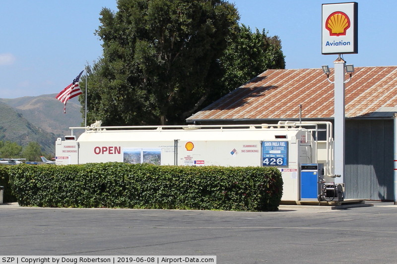 Santa Paula Airport (SZP) - Santa Paula Self-Serve SHELL 100 Low lead Fuel Dock., No price change.
